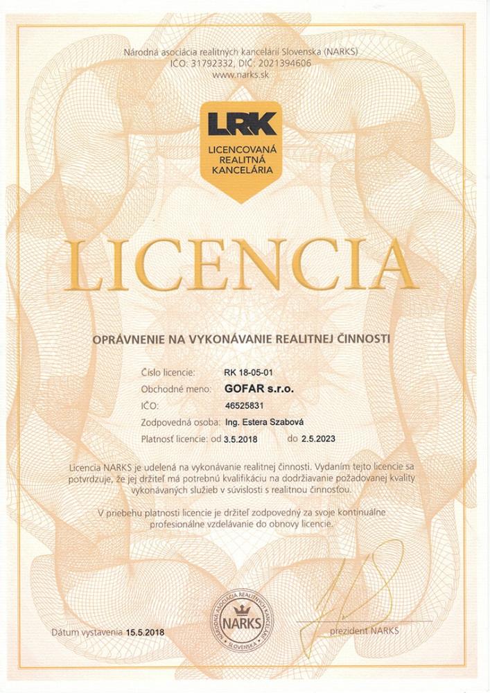 GOFAR Licencia