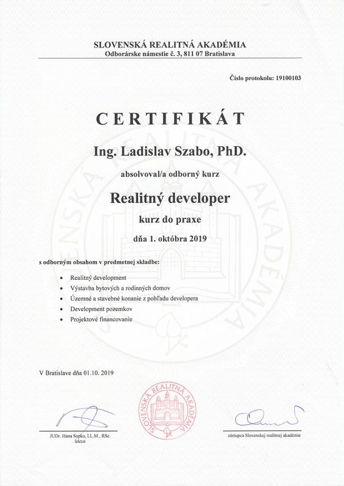 GOFAR Szabo Certifkáty