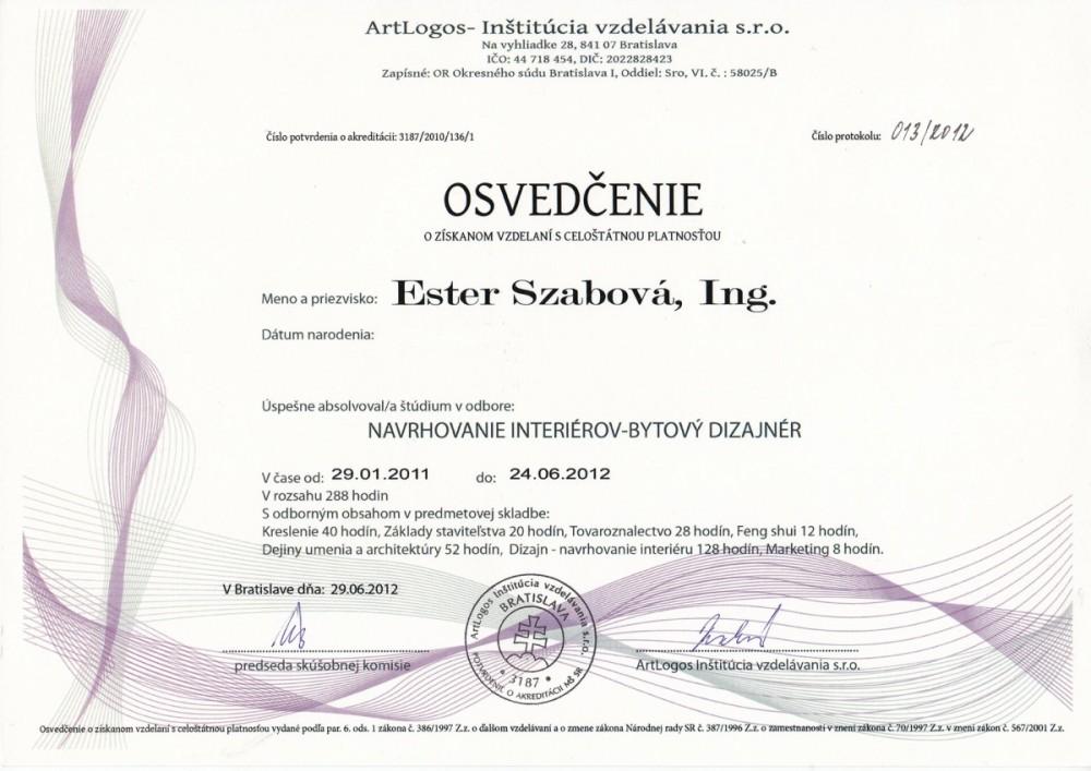 GOFAR Szabová Certifkáty